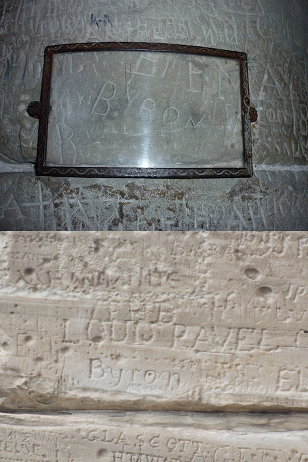 Byron's Autograph at Chillon Castle