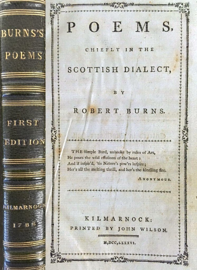 Frontispiece of Burns's Kilmarnock Edition
