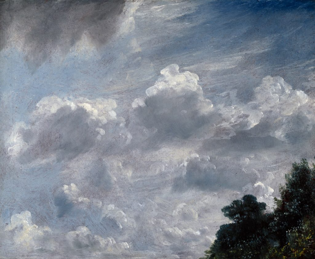 John Constable's Cloud Study, Hampstead, Tree at Right