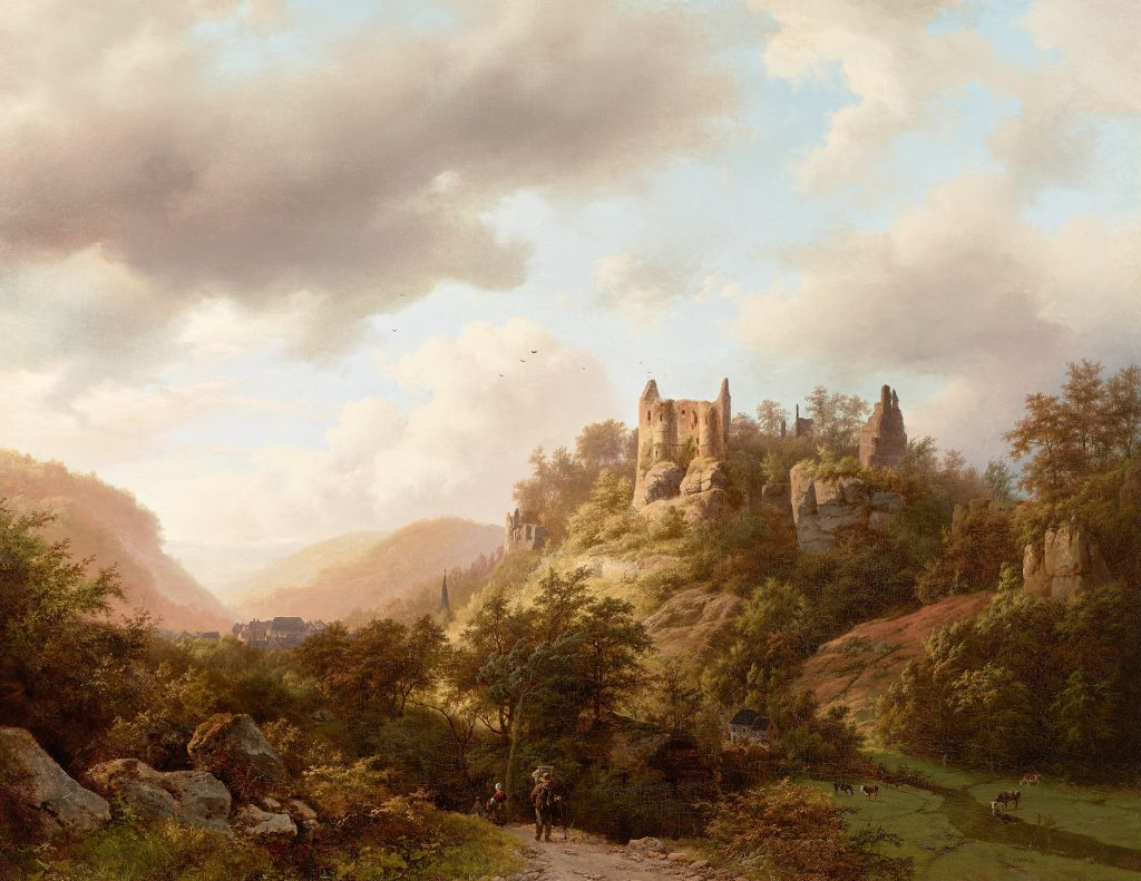 Koekkoek's painting View of the Castle of Larochette