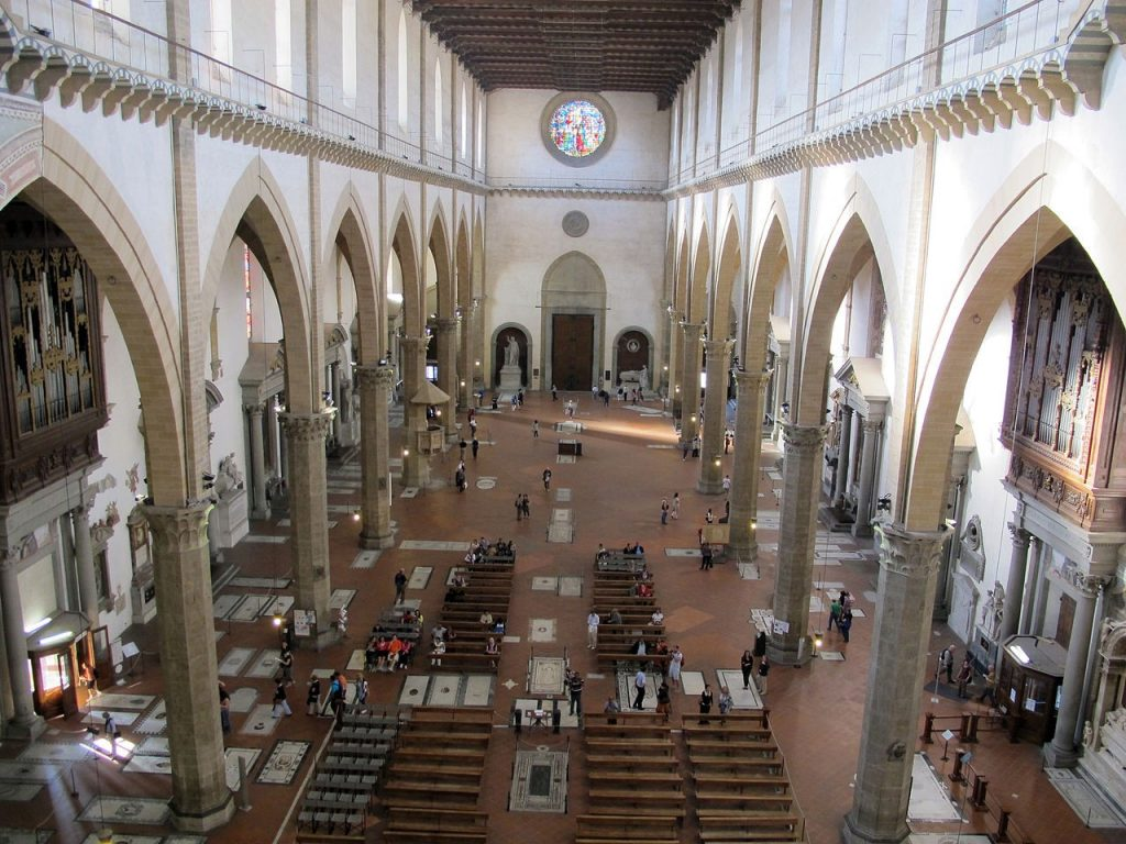 Interior of the Basilica of Santa Croce