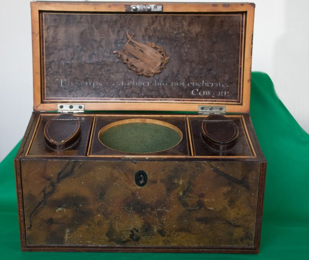 William Hayley's Tribute Tea-Caddy