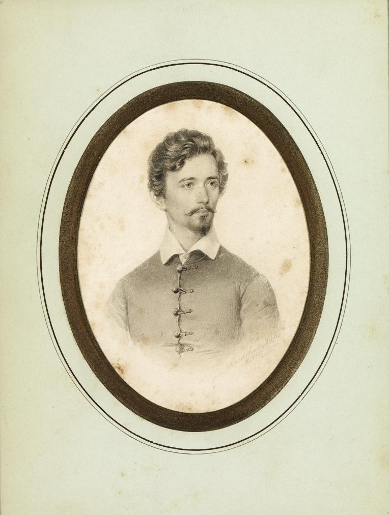 Miklós Barabás, Bust of Sándor Petőfi (1846)