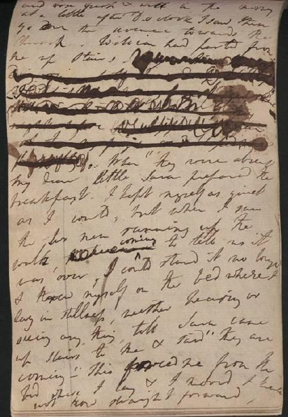 Due pagine dal diario di Dorothy Wordsworth