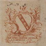 Erasmus Darwin's Armourial Bookplate