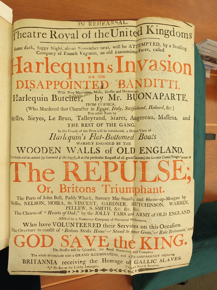 Broadside of Harlequin's Invasion,1803