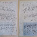 Manoscritto di 40 versi del di Mickiewicz