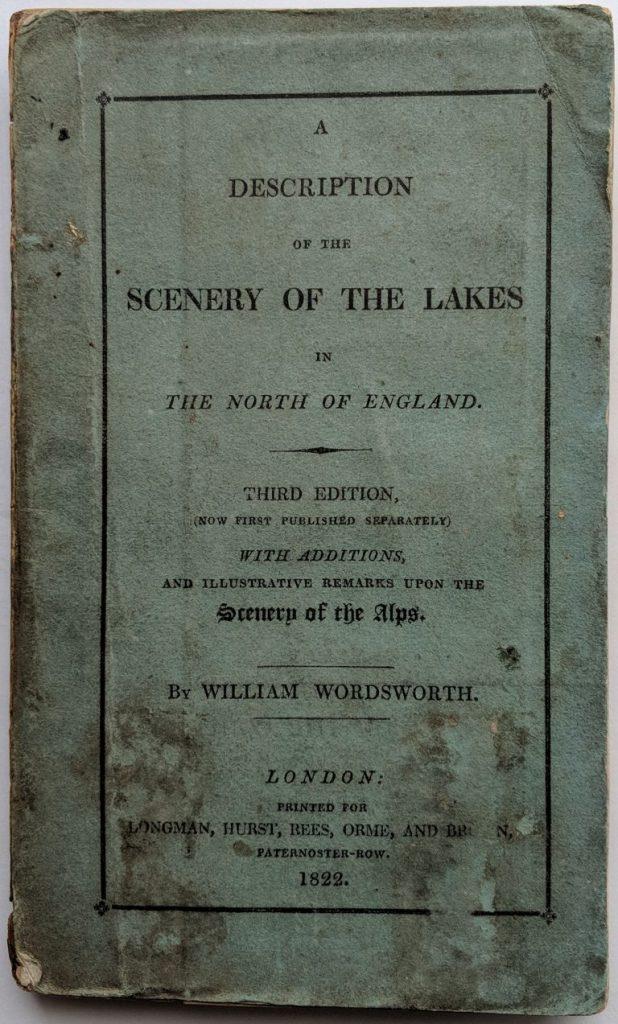 Un exemplaire du Guide de la région des Lacs (1822) de Wordsworth