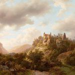 Romantische Ruinen in einer luxemburgischen Landschaft