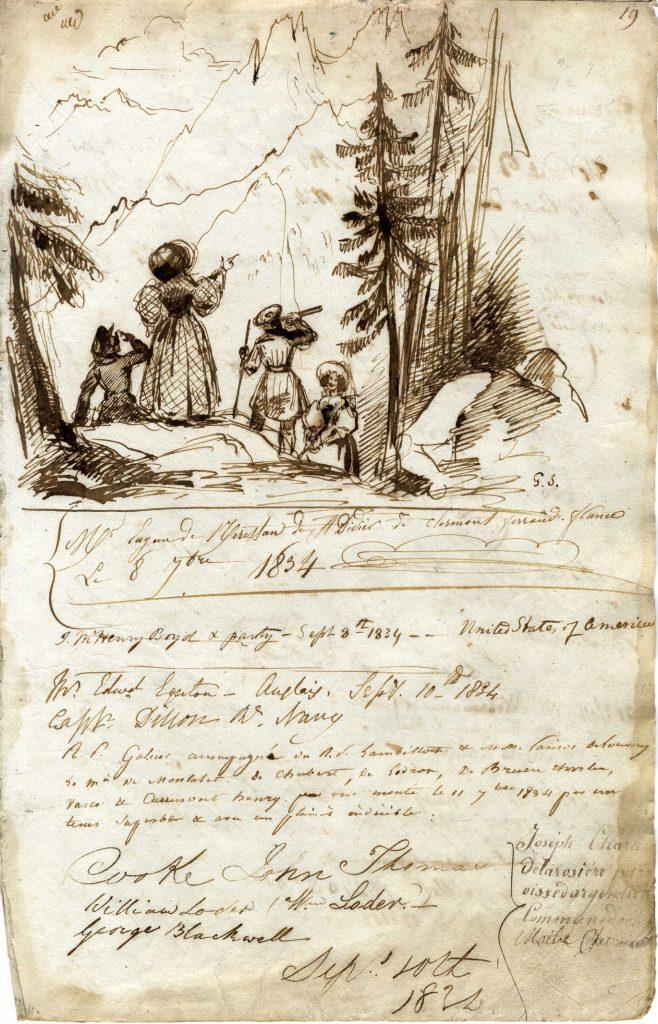 Livre d'or de la Flégère Visitor Book