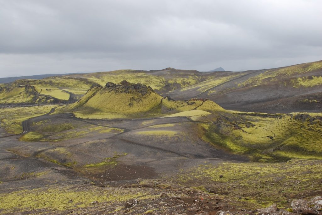 The volcanic fissure of Lakagígar, Iceland