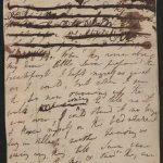 Due pagine dal Diario di Grasmere di Dorothy Wordsworth