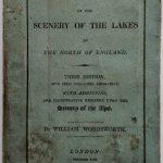 Una copia della Guide to the Lakes di Wordsworth, 1822