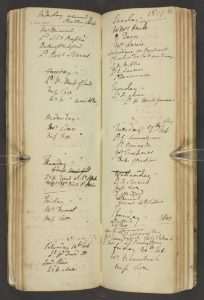 An Opening in a Holland House Dinner Book